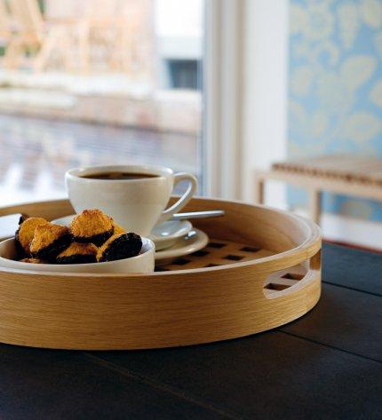 Fionia - taca z drewna teakowego