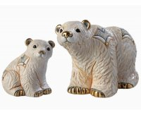 figurki ceramiczne misie polarne